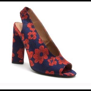 Shoes - Red Floral Heels - Searching For!!!